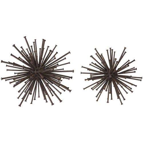 Uttermost Accessories Aric Nail Spheres (Set of 2)