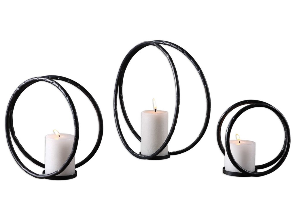 Uttermost Accessories - Candle HoldersPina Curved Metal Candleholders (Set of 3)