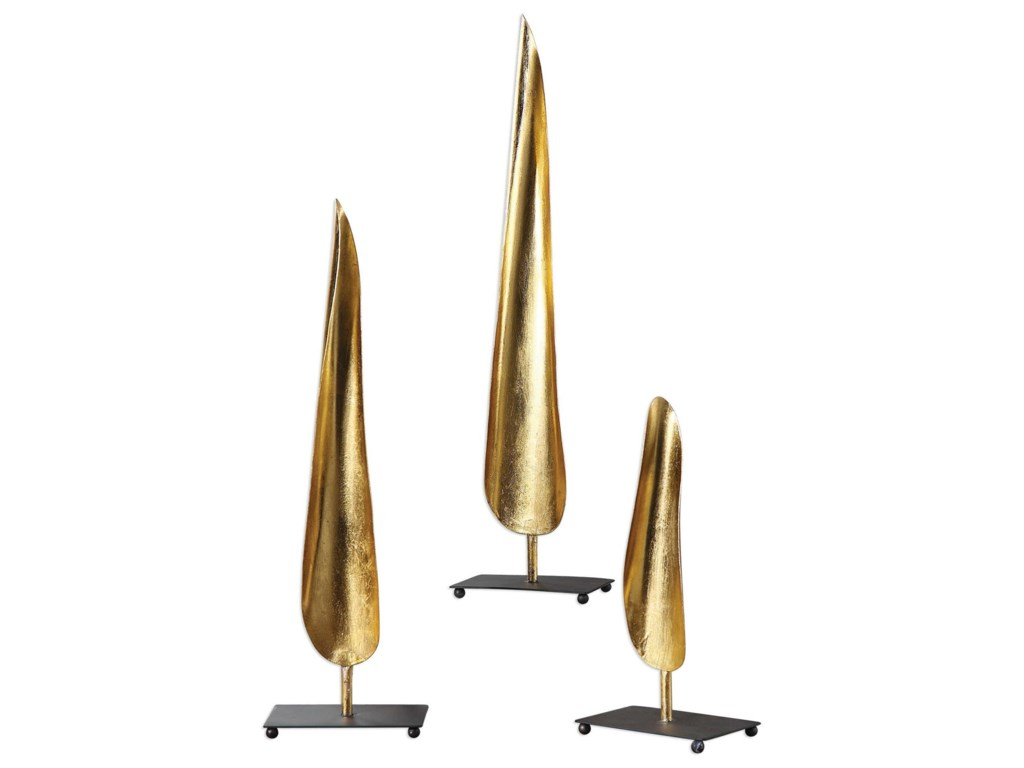 Uttermost AccessoriesBoriva Curved Leaves (Set of 3)