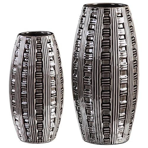 Uttermost Accessories Aura Weave Pattern Vases (Set of 2)