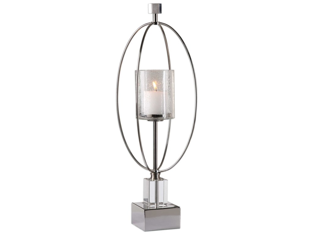Uttermost Accessories - Candle HoldersTamra Polished Silver Candleholders