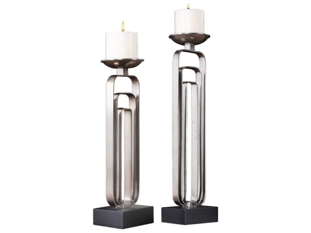 Uttermost Accessories - Candle HoldersCosme Candleholders (Set of 2)
