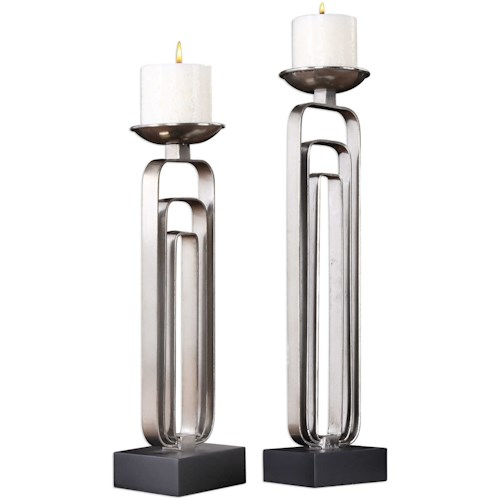 Uttermost Accessories Cosme Candleholders (Set of 2)