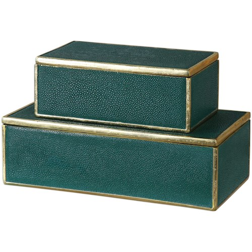 Uttermost Accessories Karis Emerald Green Boxes (Set of 2)