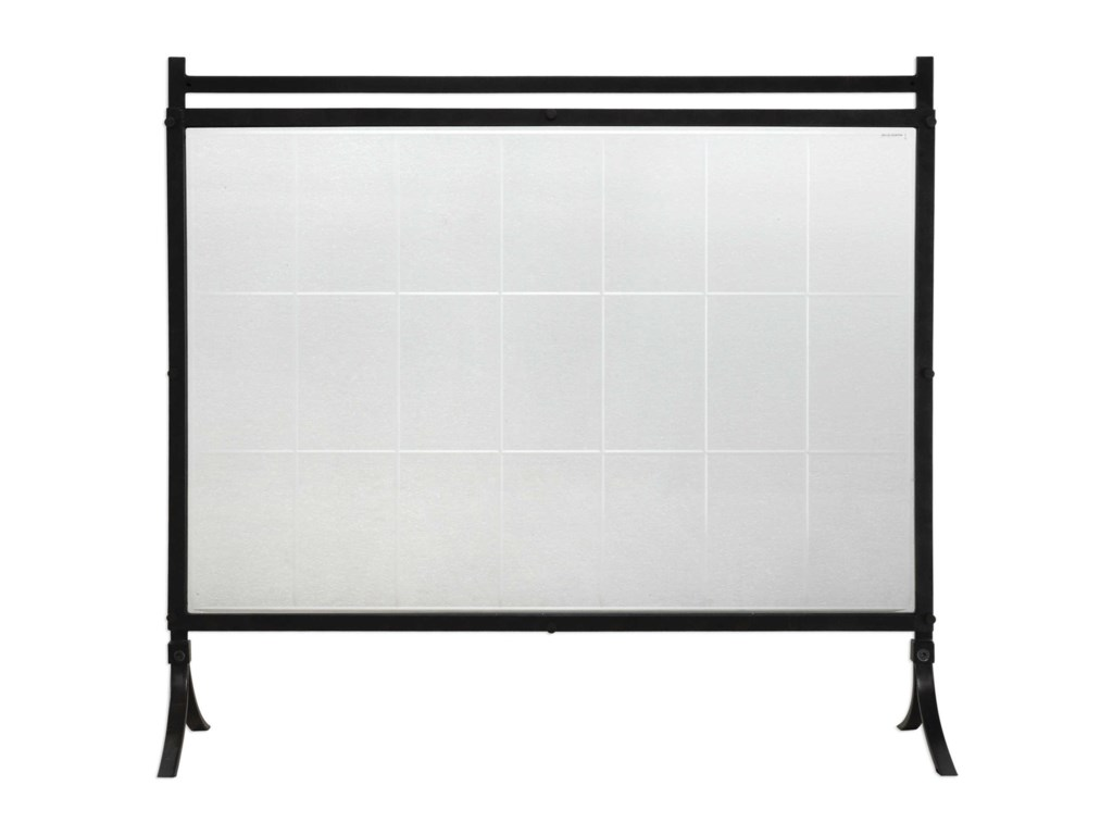 Uttermost AccessoriesTate Tempered Glass Fireplace Screen