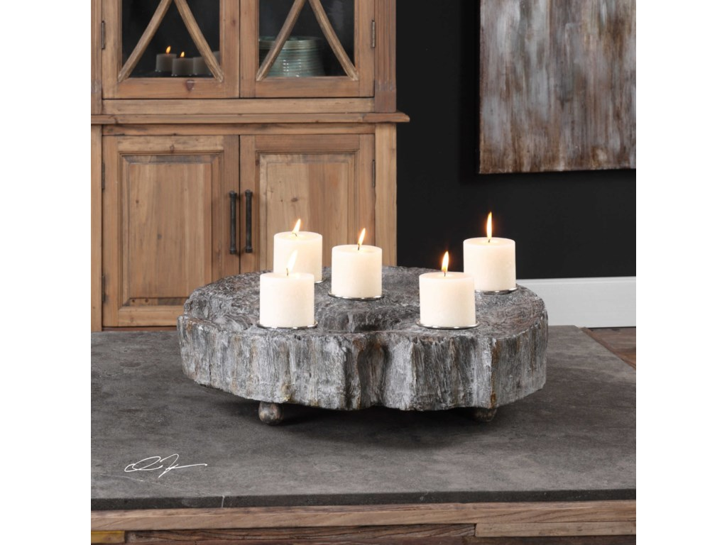 Uttermost Accessories - Candle HoldersElwin Tree Trunk Candleholder