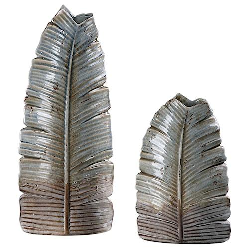 Uttermost Accessories Invano Leaf Vases (Set of 2)
