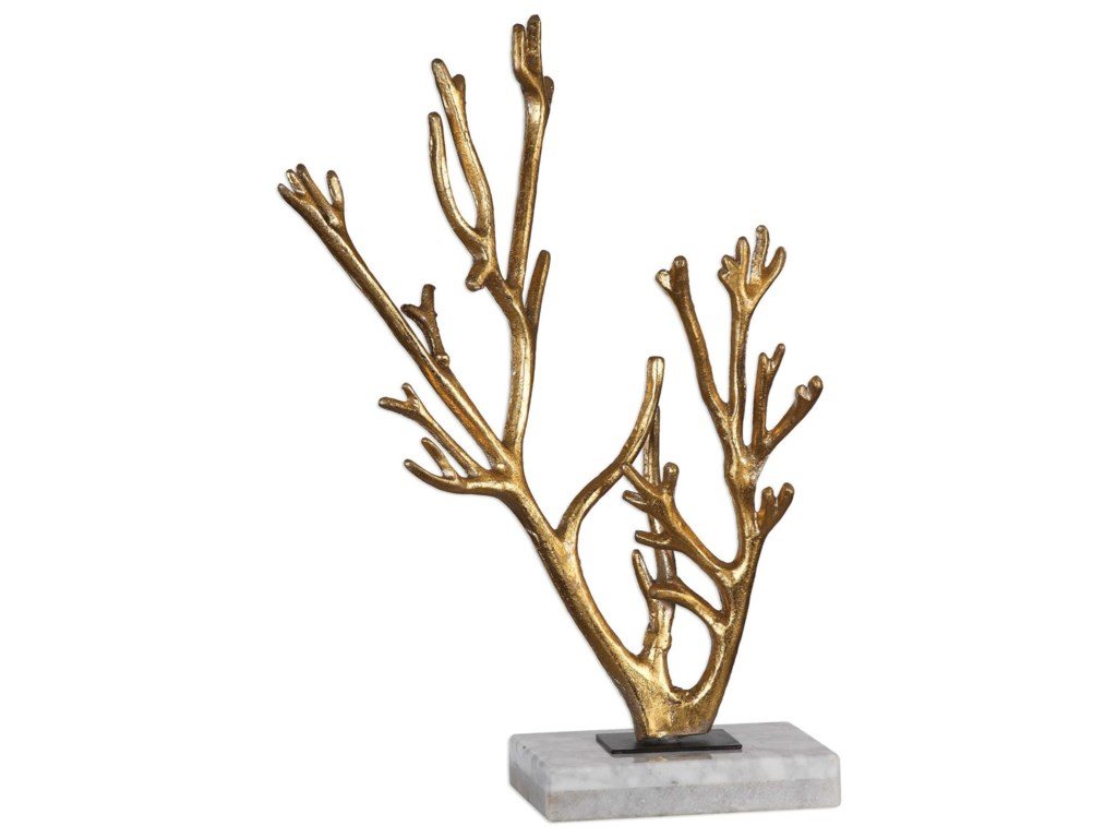 Uttermost Accessories - Statues and FigurinesGolden Coral Sculpture
