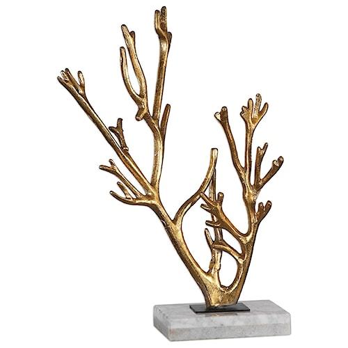 Uttermost Accessories Golden Coral Sculpture