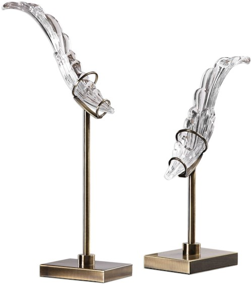 Uttermost Accessories Wings Sculpture (Set of 2)