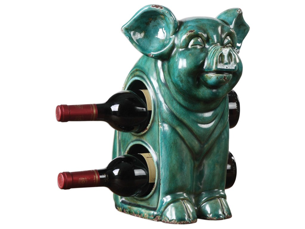 Uttermost AccessoriesOink Ceramic Wine Holder