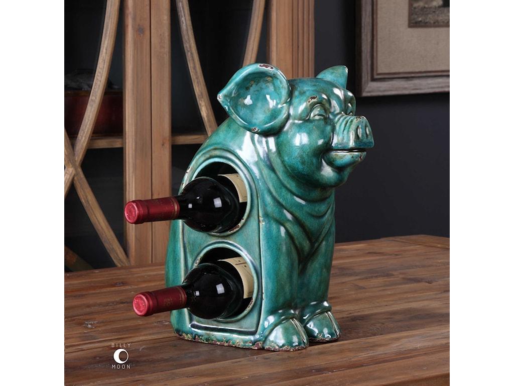Uttermost AccessoriesOink Ceramic Wine Holder