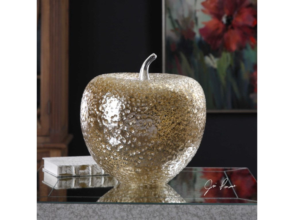 Uttermost Accessories - Statues and FigurinesGolden Apple Sculpture
