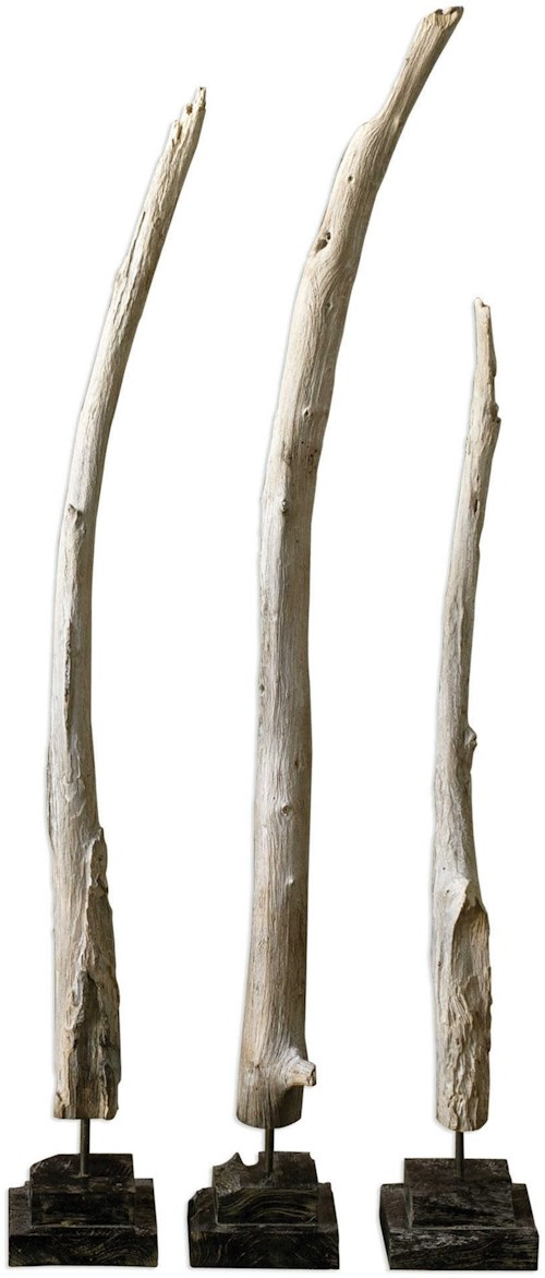 Uttermost Accessories Teak Branches Statues, Set of 3