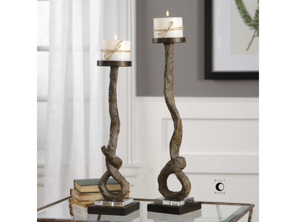 Uttermost AccessoriesDriftwood Candleholders Set of 2
