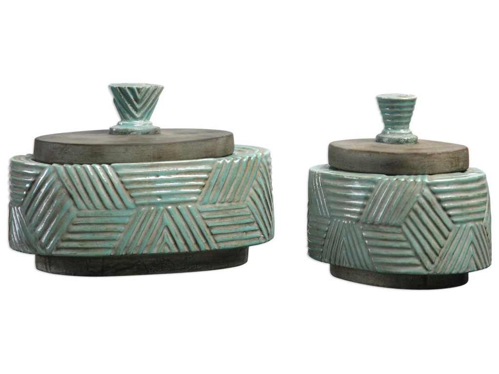 Uttermost AccessoriesRuth Ceramic Boxes Set of 2