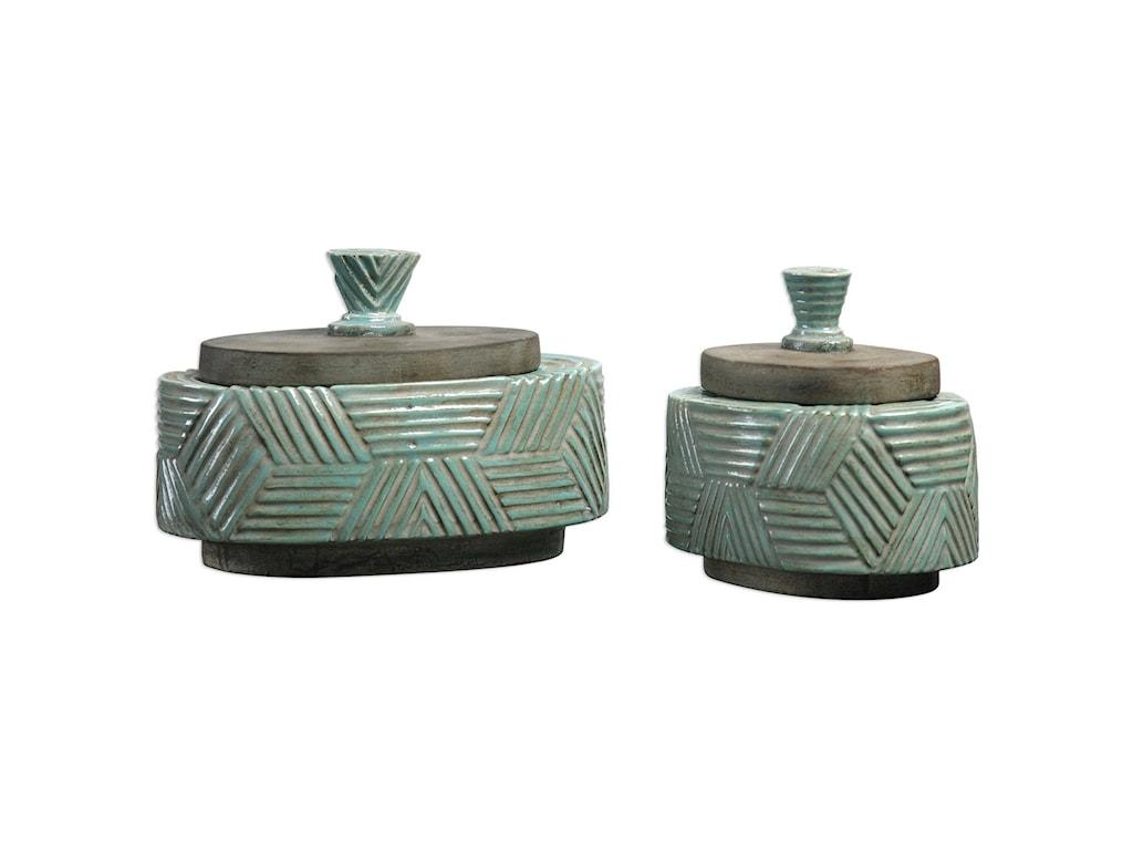 Uttermost AccessoriesRuth Ceramic Boxes Set of 2