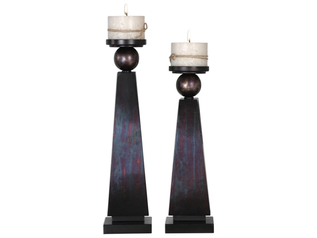 Uttermost AccessoriesGeremia Oxidized Bronze Candleholders Set of