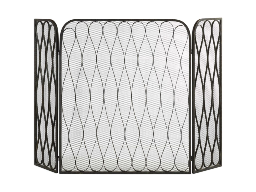 Uttermost AccessoriesBinti Dark Brown Fireplace Screen