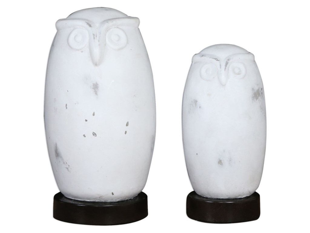 Uttermost Accessories - Statues and FigurinesHoot Owl Figurines Set of 2
