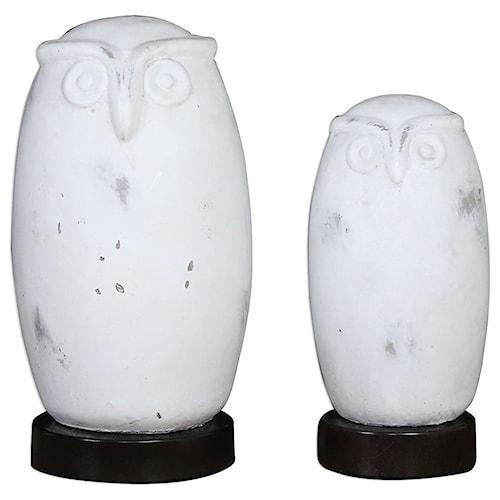 Uttermost Accessories Hoot Owl Figurines Set of 2