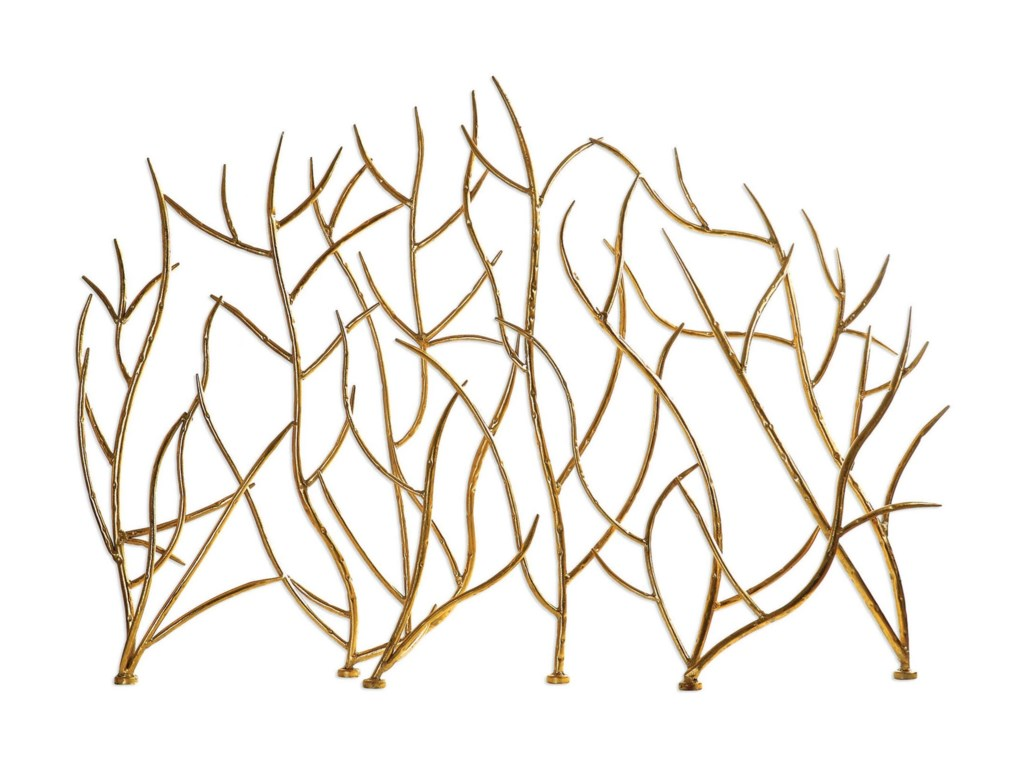 Uttermost AccessoriesGold Branches Decorative Fireplace Screen