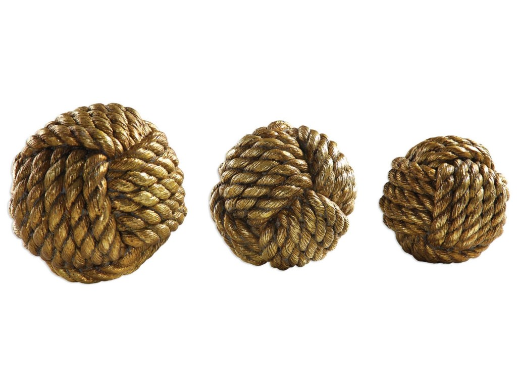 Uttermost AccessoriesTali Rope Spheres Set of 3