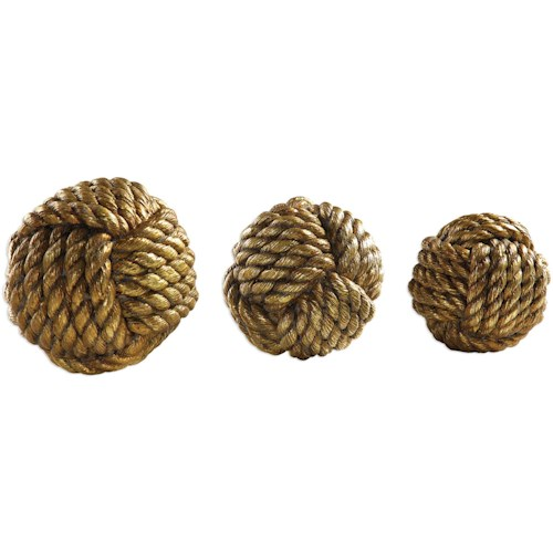 Uttermost Accessories Tali Rope Spheres Set of 3