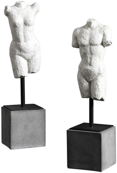 Uttermost Accessories Valini Torso Sculptures Set of 2