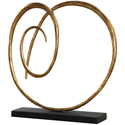 Uttermost Accessories Oma Twisted Gold Sculpture