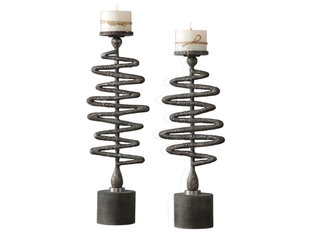 Uttermost AccessoriesZigzag Candleholders Set of 2