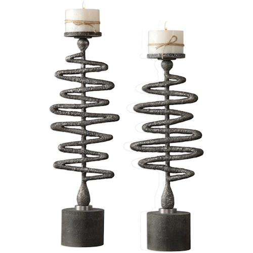 Uttermost Accessories Zigzag Candleholders Set of 2