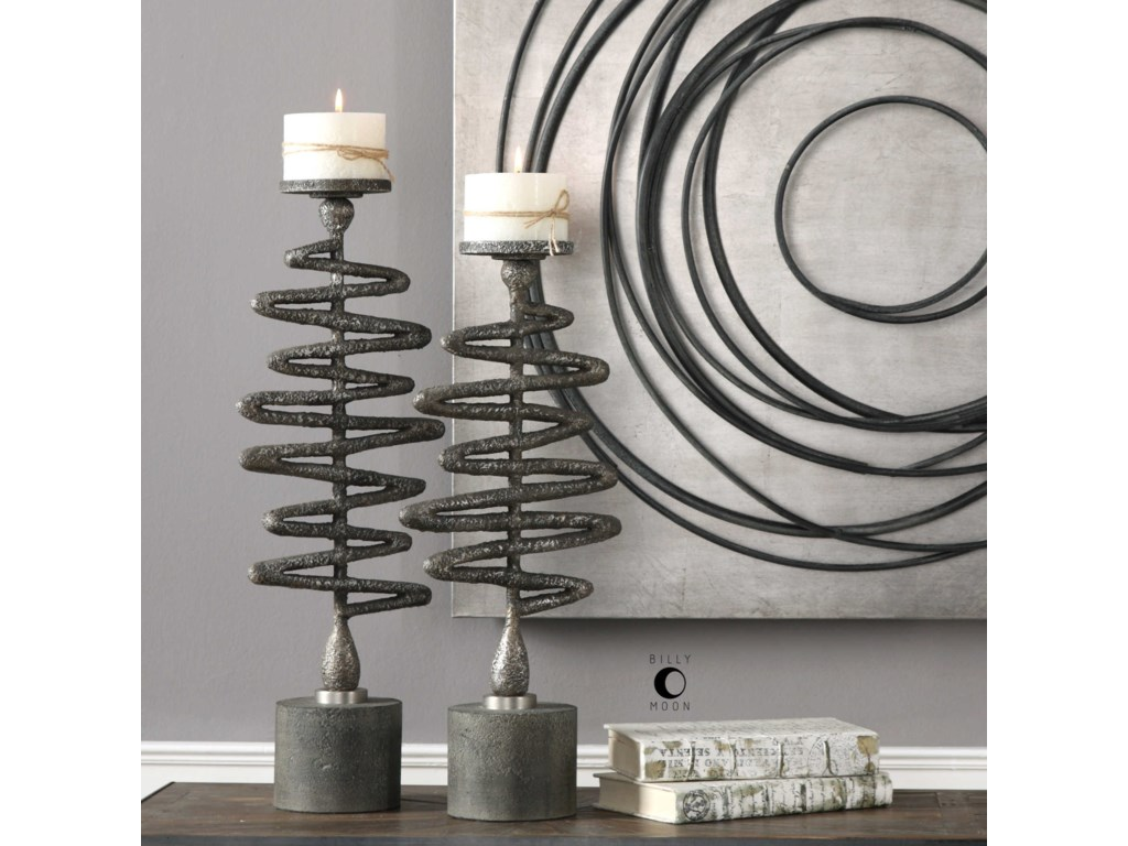 Uttermost Accessories - Candle HoldersZigzag Candleholders Set of 2