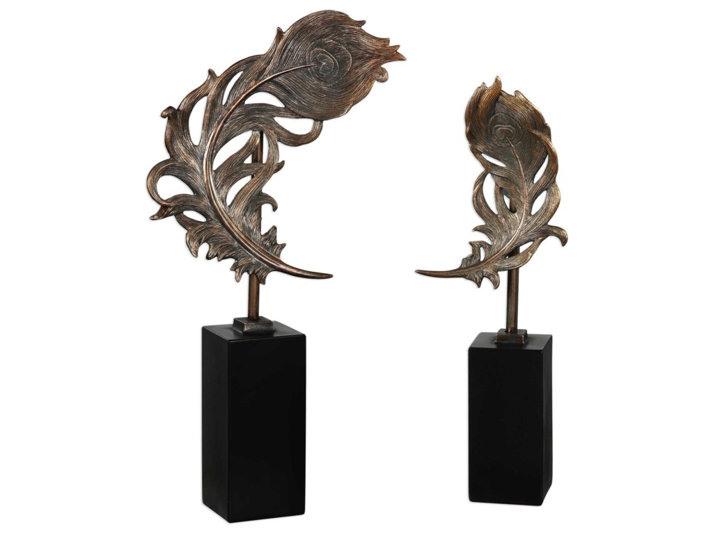Uttermost AccessoriesQuill Feathers Sculpture Set of 2