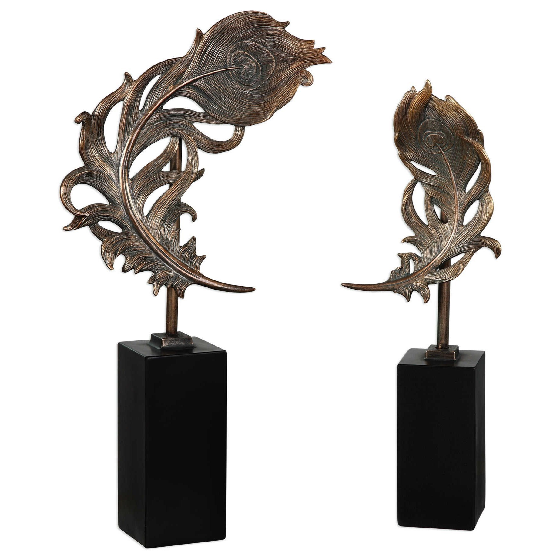 Uttermost AccessoriesQuill Feathers Sculpture Set Of 2 ...