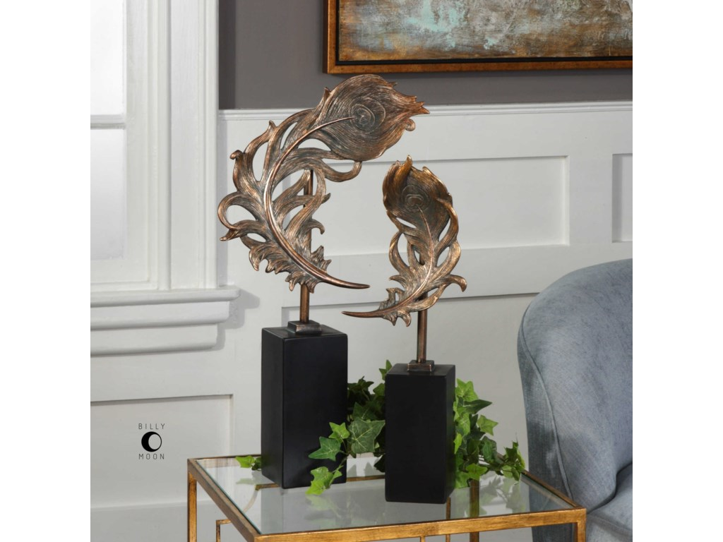 Uttermost Accessories - Statues and FigurinesQuill Feathers Sculpture Set of 2