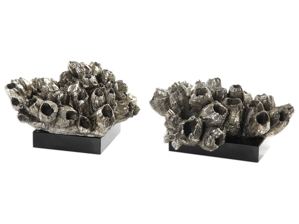 Uttermost Accessories - Statues and FigurinesSessile Barnacle Sculptures Set of 2