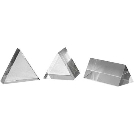 Triangle Trio Sculptures Set of 3