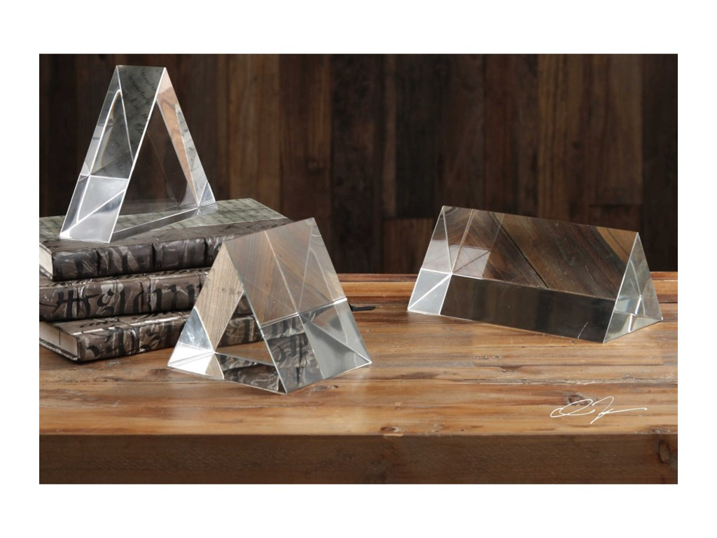 Uttermost AccessoriesTriangle Trio Sculptures Set of 3