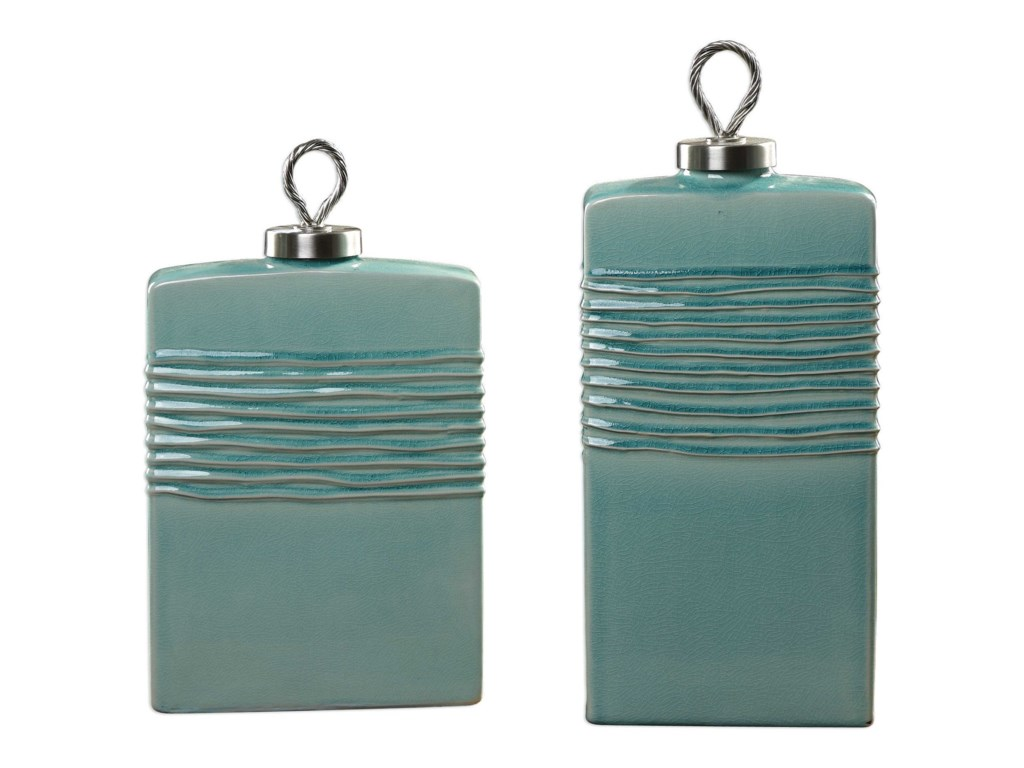 Uttermost AccessoriesRewa Green Ceramic Containers Set of 2