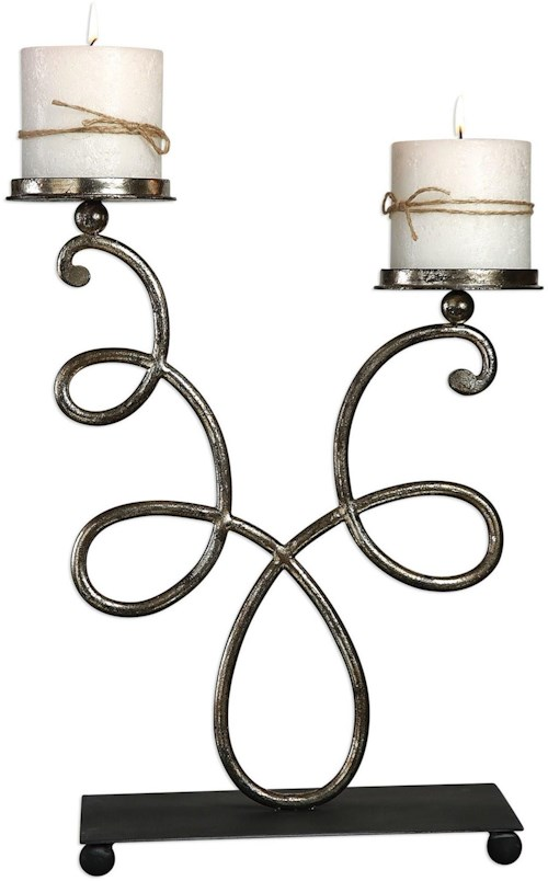 Uttermost Accessories Chandra Silver Candleholder