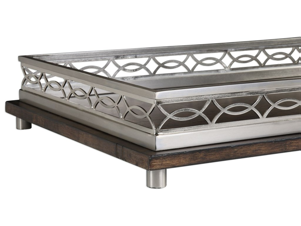Uttermost AccessoriesGualtiero Nickel & Wood Tray