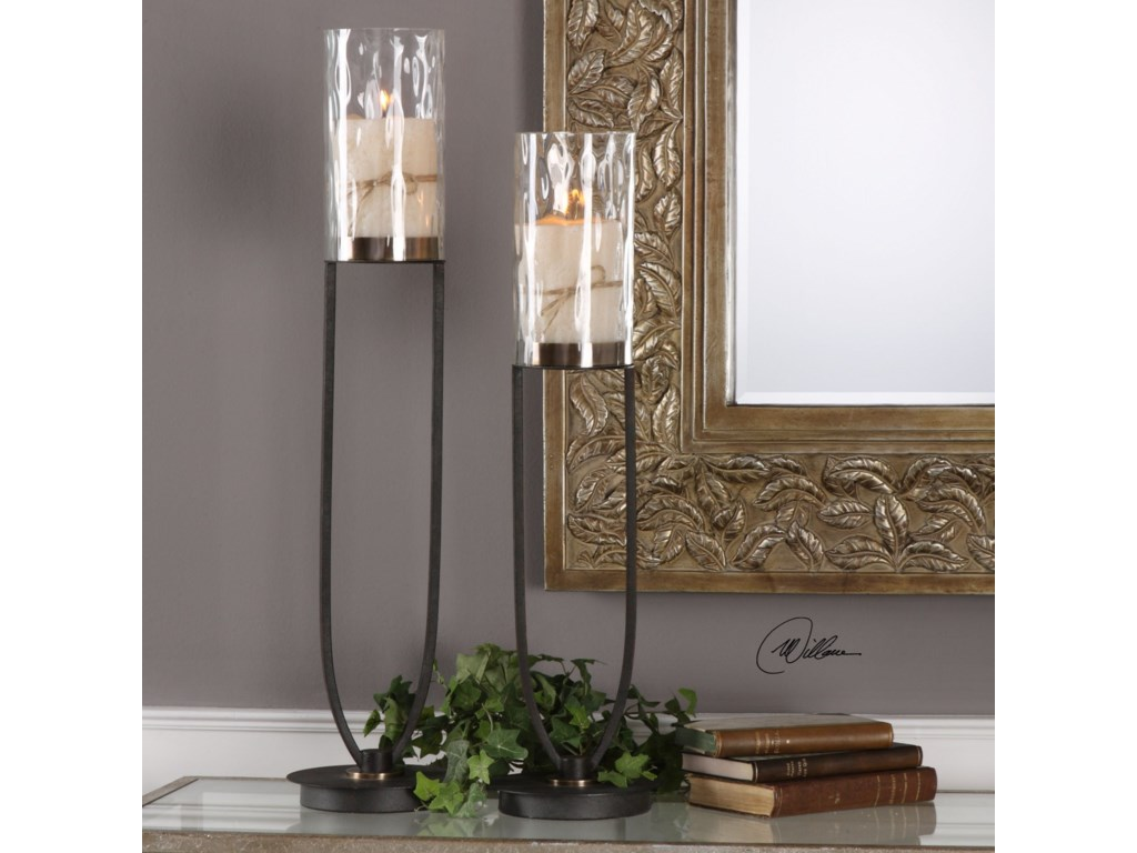 Uttermost Accessories - Candle HoldersDurga Iron Work Candleholders Set of 2