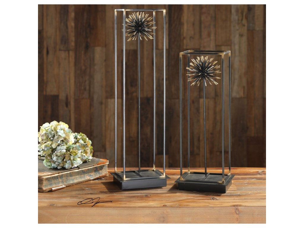 Uttermost Accessories - Statues and FigurinesFlowering Dandelions Sculptures Set of 2