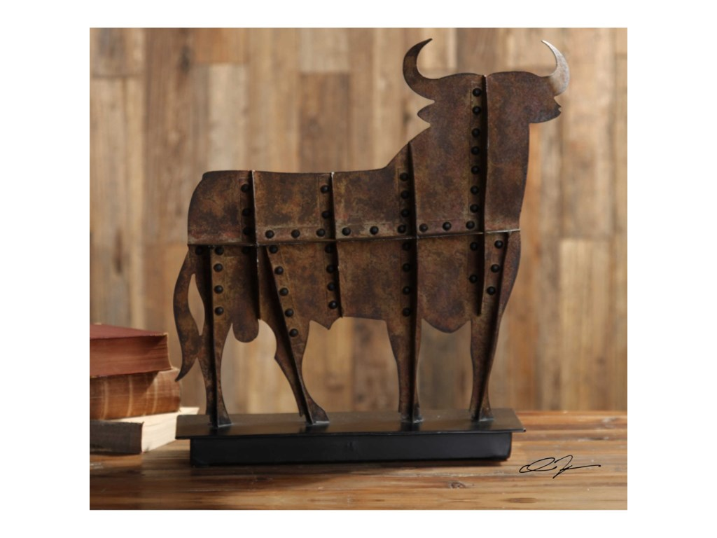 Uttermost Accessories - Statues and FigurinesToro Rust Brown Tabletop Accent