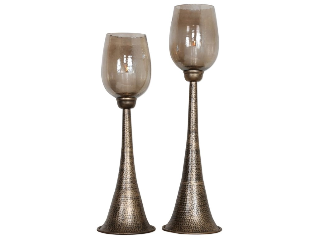 Uttermost AccessoriesBadal Antiqued Gold Candleholders Set of 2