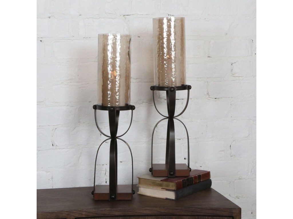 Uttermost Accessories - Candle HoldersArka Dark Bronze Candleholders Set of 2