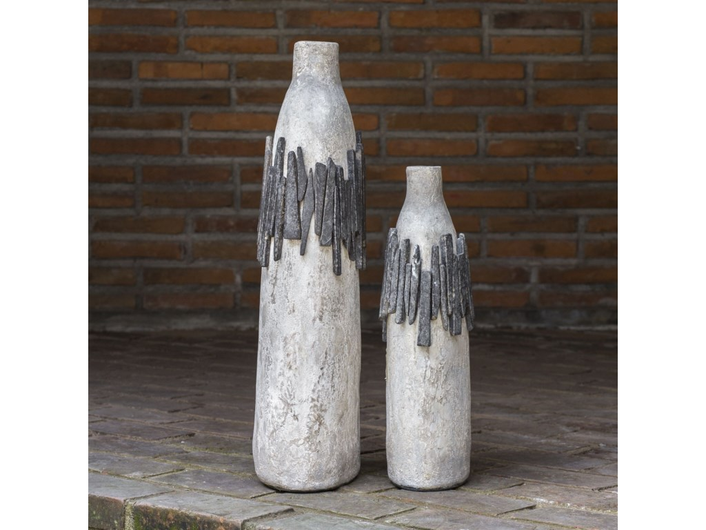 Uttermost Accessories - Vases and UrnsRutva Aged Ivory Vases, S/2