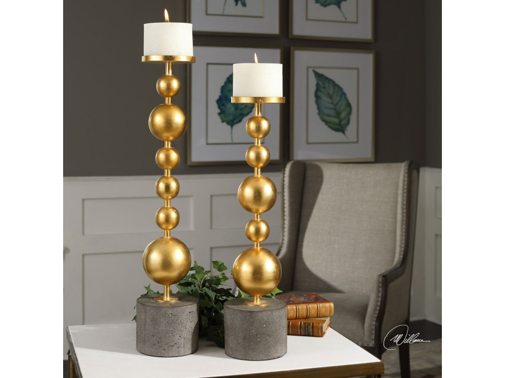 Uttermost Accessories - Candle HoldersSelim Gold Sphere Candleholders