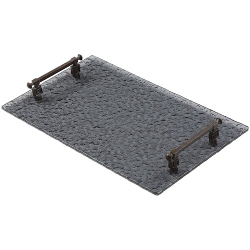Uttermost Accessories Diya Smoke Glass Tray